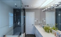 Contemporary maple bathroom (6)